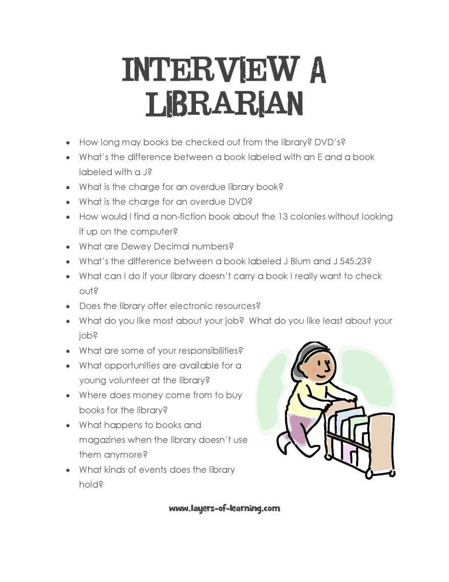 Worksheets For Librarians : Library activities layers of learning