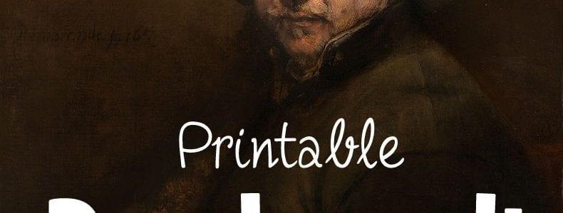Rembrandt Art Cards