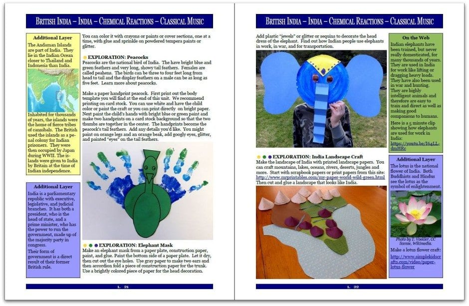 Layers of Learning Unit 3-16 sample page