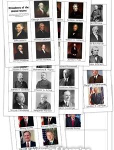 Memorize the Presidents Printable Cards