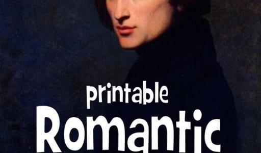 Romantic Music Cards, Part 1