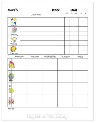 weekly assignment tracker