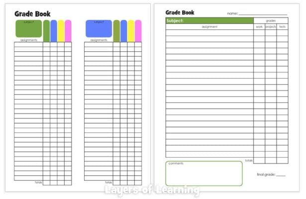 Layers of Learning Planners Grade Books