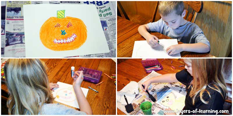 Halloween-Wax-Resist---the-coloring-phase