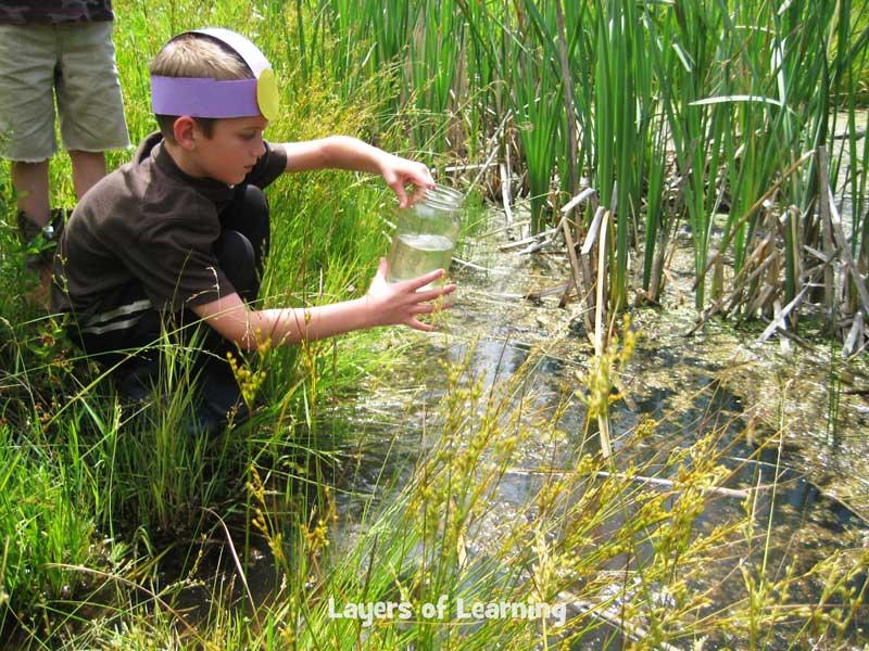 Gathering pond water