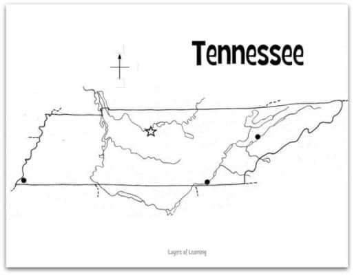 Mesmerizing image pertaining to printable map of tennessee