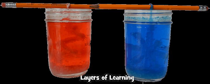 crystals forming in jars
