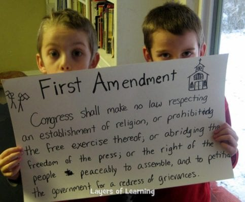 the first amendment for kids layers of learning the first amendment for kids