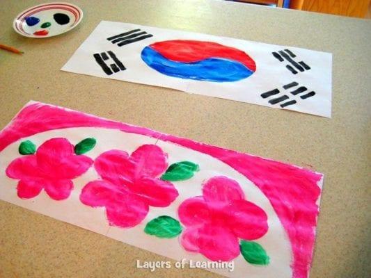 korean paper fan craft