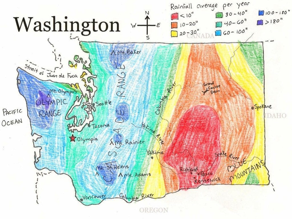 Washington State Printable Map - Map of washington state