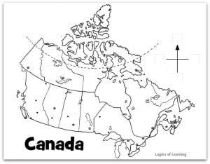 Map of Canada to label and color.