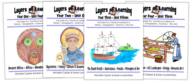 Covers of four Layers of Learning books
