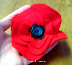 A Poppy craft to remember the soldiers by.