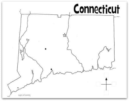 Connecticut In Us Map Globalinterco - Connecticut on a us map