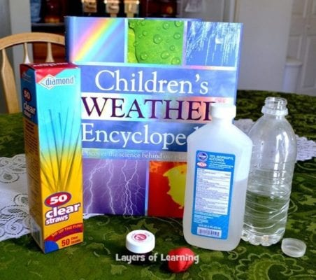 Supplies for making a homemade thermometer