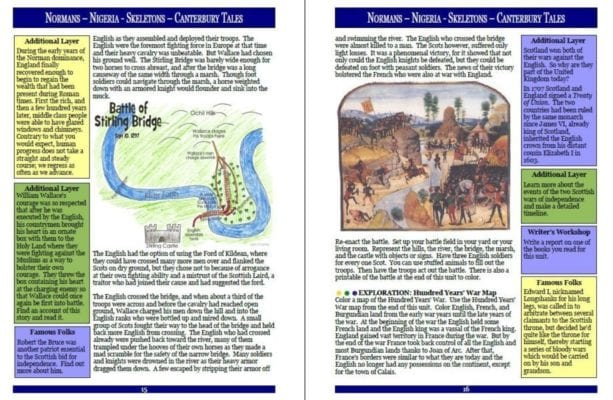 Layers of Learning Unit 2-7 Sample Page
