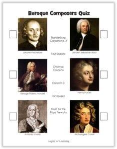 Baroque Composers Quiz