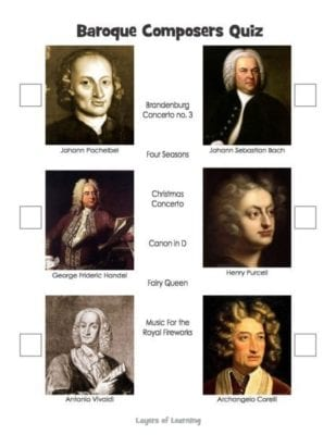 Baroque Composers Quiz