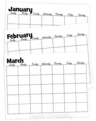 Layers of Learning Planner Calendars
