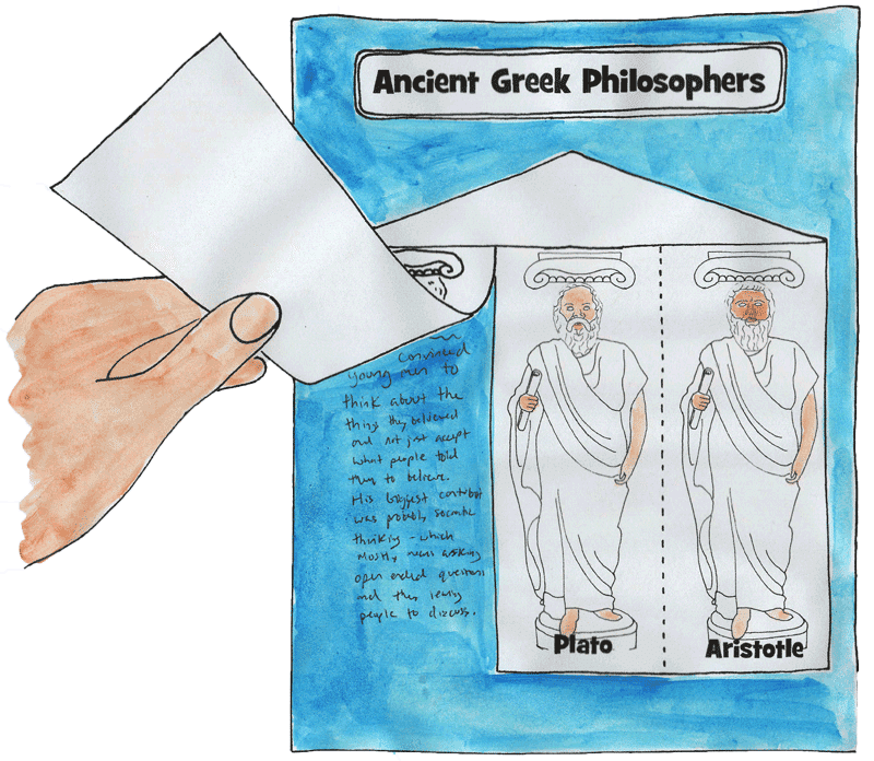 ancient greek philosophers notebooking page