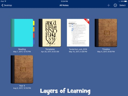 How to use a tablet to read, plan, and print Layers of Learning units