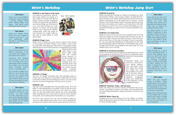 Writer's Workshop Jump Start sample pages