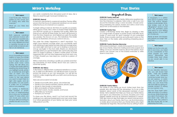 Sample pages of the Inside of True Stories