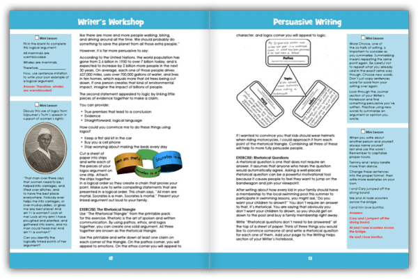 Persuasive Writing Sample Pages