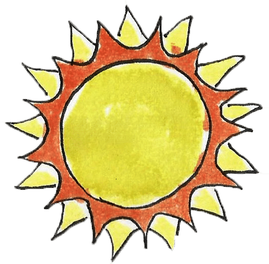 Watercolor painting of the sunshine